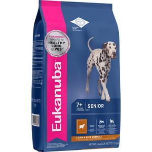 Сухой корм Eukanuba Senior Dog Lamb & Rice Formula с ягненком и рисом для пожилых собак всех пород 2,5кг