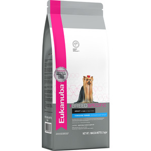 Сухой корм Eukanuba Adult Dog Breed Specific Yorkshire Terrier здоровье кожи и шерсти для собак породы йоркширский терьер 2кг