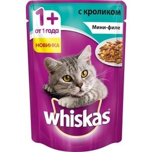 Паучи Whiskas Мини-филе с кроликом для кошек 85г (10165917) цена и фото