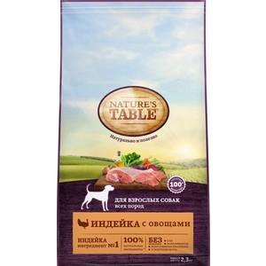 Сухой корм NATURES TABLE Индейка с овощами для взрослых собак всех пород 2,3кг (10179263)