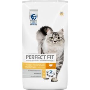 Сухой корм PERFECT FIT Sensitive с индейкой для взрослых кошек с чувствительным пищеварением 3кг (10172987) цена