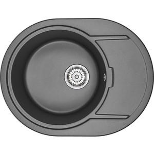 Кухонная мойка Granula GR-6502 черный кухонная мойка granula gr 4801 415х490 черный