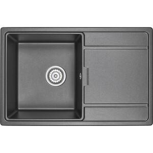 Кухонная мойка Granula GR-7804 черный кухонная мойка granula gr 4801 415х490 черный
