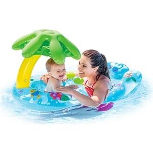 купить Круг надувной Intex 56590 для плавания 117x75 см по цене 539.96 рублей
