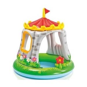 Детский бассейн Intex 57122 Крепость с навесом 68л (122х122 см)