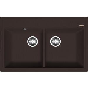 цена Кухонная мойка Florentina Липси 820 мокко FSm (20.370.E0820.303) в интернет-магазинах