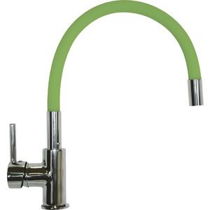 Смеситель для кухни Florentina FLEX-01 гибкий излив, зеленый (33.65H.1120)
