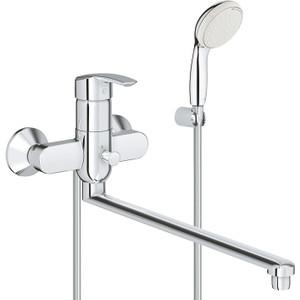 Смеситель для ванны Grohe Multiform с душевым гарнитуром (3270800A) смеситель двухвентильный grohe multiform 29025000