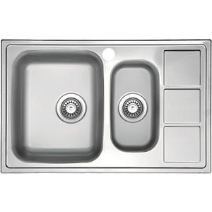 Кухонная мойка Florentina Профи 780.500 К чаша слева (PR.780.500.B.1K.M.08L) кухонная мойка florentina профи 780 500 10 08 нержавеющая сталь декорированная чаша слева