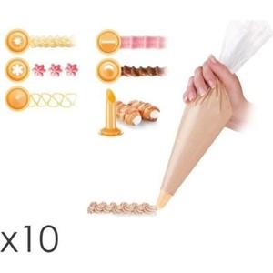 Мешочек для украшения блюд 30 cм 10 штук 6 насадок Tescoma Delicia (630470)