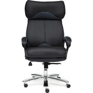 Кресло TetChair GRAND кож/зам/ткань черный/серый 36-6/12 кресло tetchair runner кож зам ткань черный зеленый 36 6 tw 26 tw 12