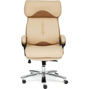 цена на Кресло TetChair GRAND кож/зам/ткань бежевый/бронзовый 36-34/21