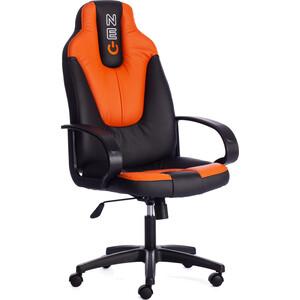 Кресло TetChair NEO1 кож/зам черно-оранжевый 36-6/14-43