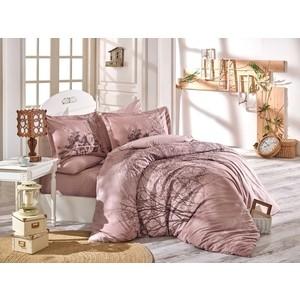 Комплект постельного белья Hobby home collection 1,5 сп, поплин, Margherita светло-коричневый (1501002133)