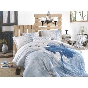 Комплект постельного белья Hobby home collection 1,5 сп, сатин, Alandra голубой (1501002139) комплект полутораспальный hobby home collection alandra