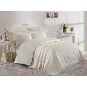 Комплект постельного белья Hobby home collection Евро с покрывалом, сатин, Elite set кремовый (1501002154)