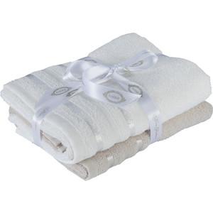 Набор из 2 полотенец Hobby home collection Nisa 50x90 см бежевый/молочный (1501002196)
