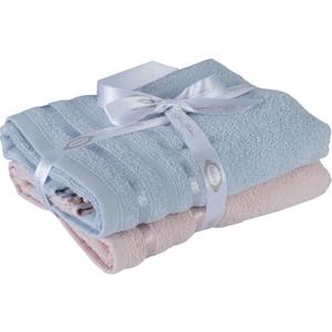 Набор из 2 полотенец Hobby home collection Nisa 50x90 см пудра/голубой (1501002198)