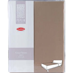 Простыня Hobby home collection 160х240 см коричневый (1501002014)