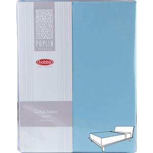 Простыня Hobby home collection на резинке 180х200 см бирюзовый (1501002004)
