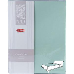 Простыня Hobby home collection на резинке 100х200 см минт (1501001973)