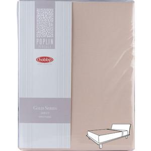 Простыня Hobby home collection на резинке 100х200 см персиковый (1501001977)