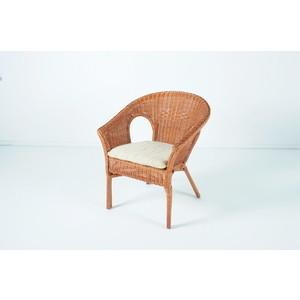 Кресло с подушкой Vinotti 02/08B коньяк