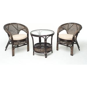 Комплект для отдыха Vinotti 02/15, 2 кресла+стол темный коньяк комплект для отдыха черчилль chorchill нат ротанг доступные цвета коньяк