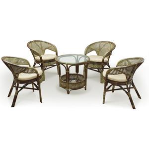 Комплект для отдыха Vinotti 02/15, 4 кресла+стол олива все цены