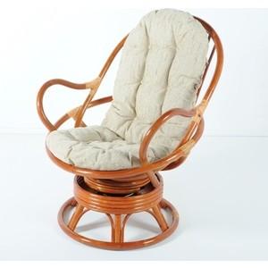 Кресло вращающееся с подушкой Vinotti 05/01 коньяк