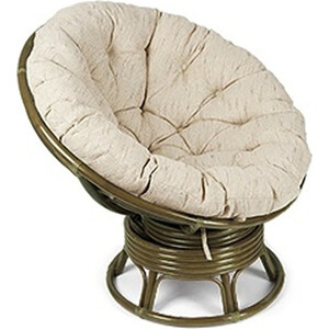 Кресло-качалка Vinotti Papasan 23/01В олива подушка рогожка клоран олива