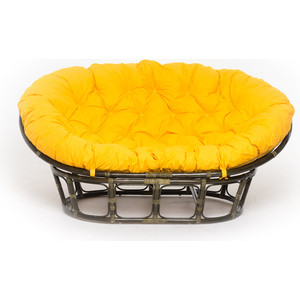 Кресло Vinotti mamasan 23/02 олива желтая подушка