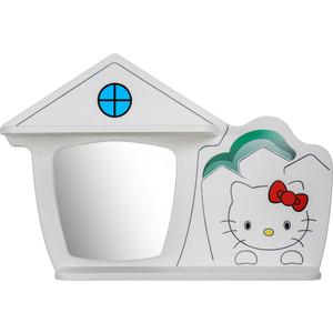 Детские полки Калифорния мебель Домик Кити белый