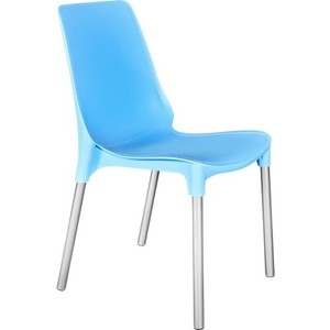 Стул Sheffilton SHT-S75 голубой/хром лак