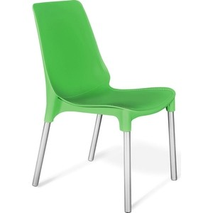 Стул Sheffilton SHT-S75 зелёный/хром лак