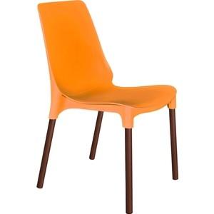 Стул Sheffilton SHT-S75 оранжевый/коричневый муар