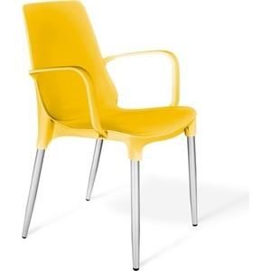 купить Стул Sheffilton SHT-S76-1 желтый/хром лак недорого