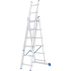 Лестница трехсекционная СибрТех 3х6 ступеней (97816) цена