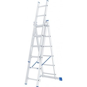 Лестница трехсекционная СибрТех 3х6 ступеней (97816)
