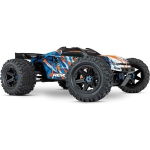 Радиоуправляемый монстр TRAXXAS E-Revo VXL Brushless 1/10 Scale 4WD Brushless - TRA86086-4 1 6 scale asian mens head sculpt for 12 inches male bodies figures dolls