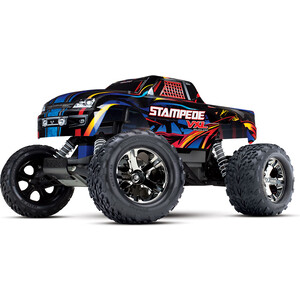 Радиоуправляемый монстр TRAXXAS Stampede VXL 1/10 2WD TQi Ready to Bluetooth Module TSM - TRA36076-4 1 5 degree toe aluminum rear stub axle carriers for the traxxas stampede 4x4 slash 4x4 nitro rustler or nitro stampede