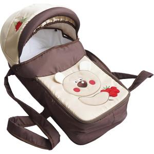 Люлька-переноска для коляски ЛЕО Веселые зверята Мишка с малиной 5106-103