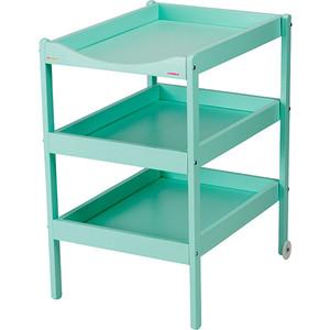 Столик для пеленания Combelle Susie (дерево) с 3-я полочками 52х82х87см Mint Green / Мятно-зеленый 134