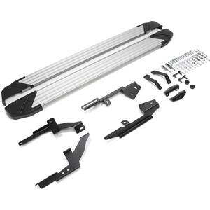 Пороги Silver Rival для Lada X-Ray (2016-н.в.), 173 см, алюминий, F173AL.6002.1
