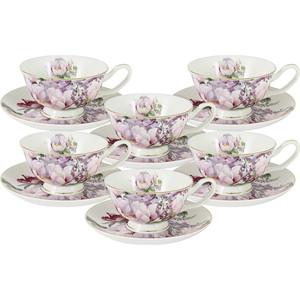 Набор чайный 12 предметов 0.2 л Anna Lafarg Stechcol Райский сад (AL-17815E-TCS/12-ST) чашка с блюдцем anna lafarg stechcol лаура кремовая al 17821d cre tcs st