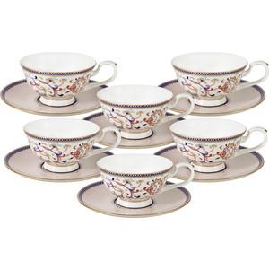 Набор чайный 12 предметов 0.2 л Anna Lafarg Emily Королева Анна (AL-M1929/12-E9)