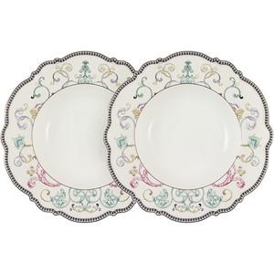 Набор суповых тарелок 2 штуки 22 см Anna Lafarg Primavera Узор (AL-NWP9-045-PW)