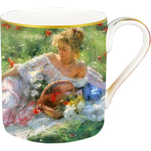 Кружка 0.4 л Carmani Девушка с корзиной цветов (CAR2-045-0132)