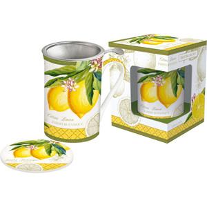 Кружка с ситечком и крышкой 0.3 л Easy Life (R2S) Лимон (EL-0280/JBOL)