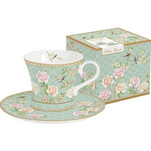 Набор чашек для кофе с блюдцами 2 штуки 0.08 л Easy Life (R2S) Дворцовый парк салатовый (EL-R1353/PALA)